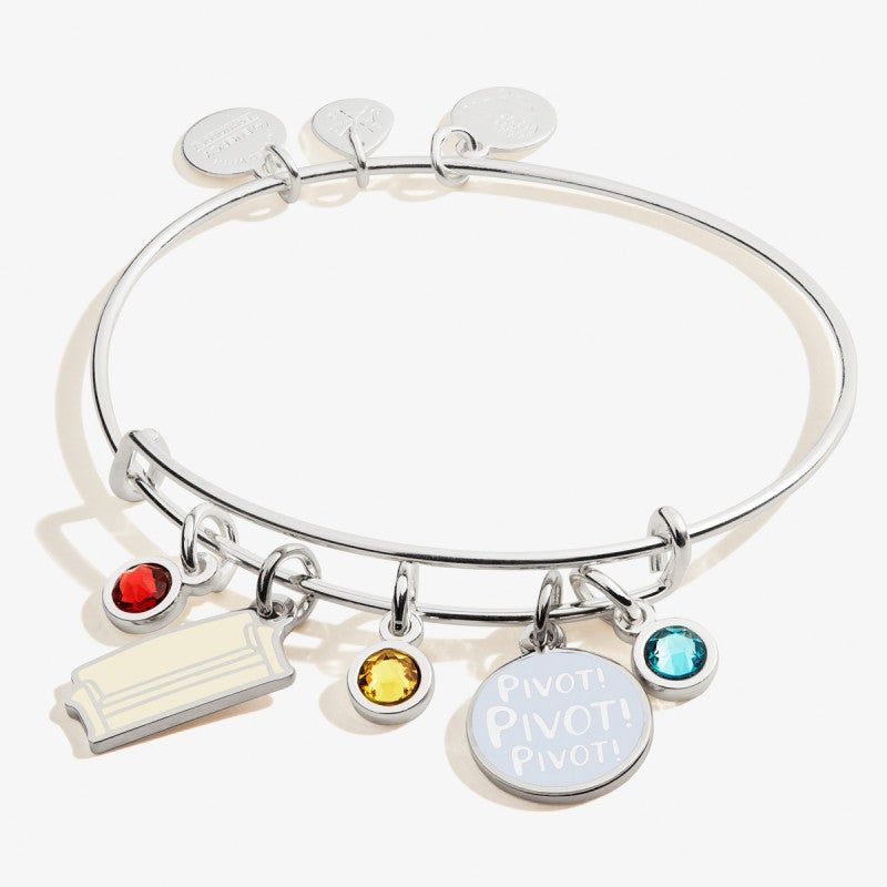 Friends Couch And Pivot Cluster Charm Bangle Shiny Silver In 2020