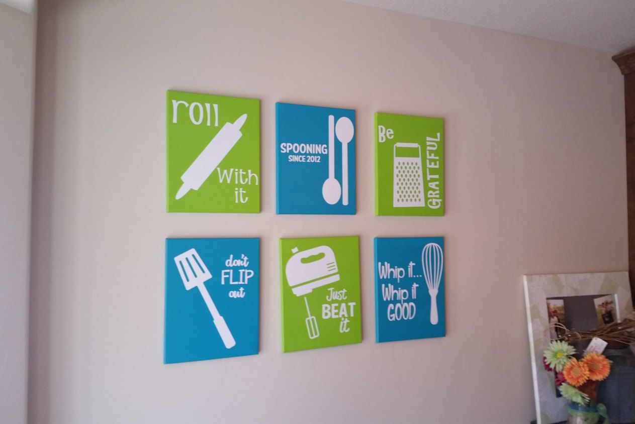 Set of Six Kitchen Wall Decorations - pinned by pin4etsy.com | Z&H ...