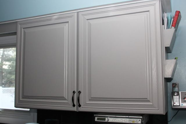 Cabinet in Behr Cathedral Gray (the darker sample paint ...