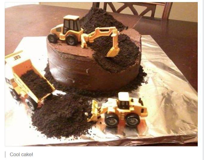Cool cake for boys | Construction cake, Digger cake, Boy ...