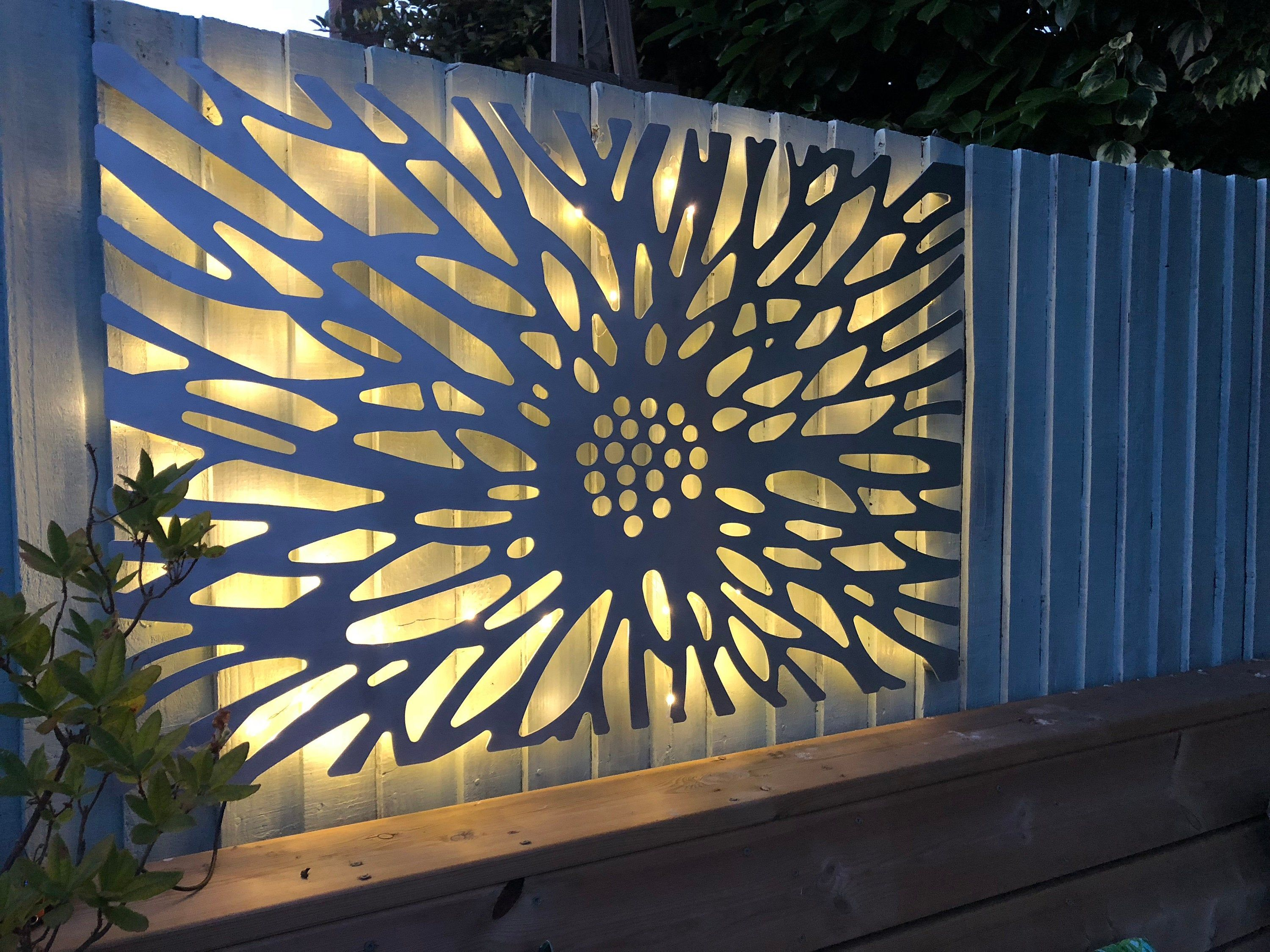 Laser Cut Decorative Metal Wall Art Panel Garden W