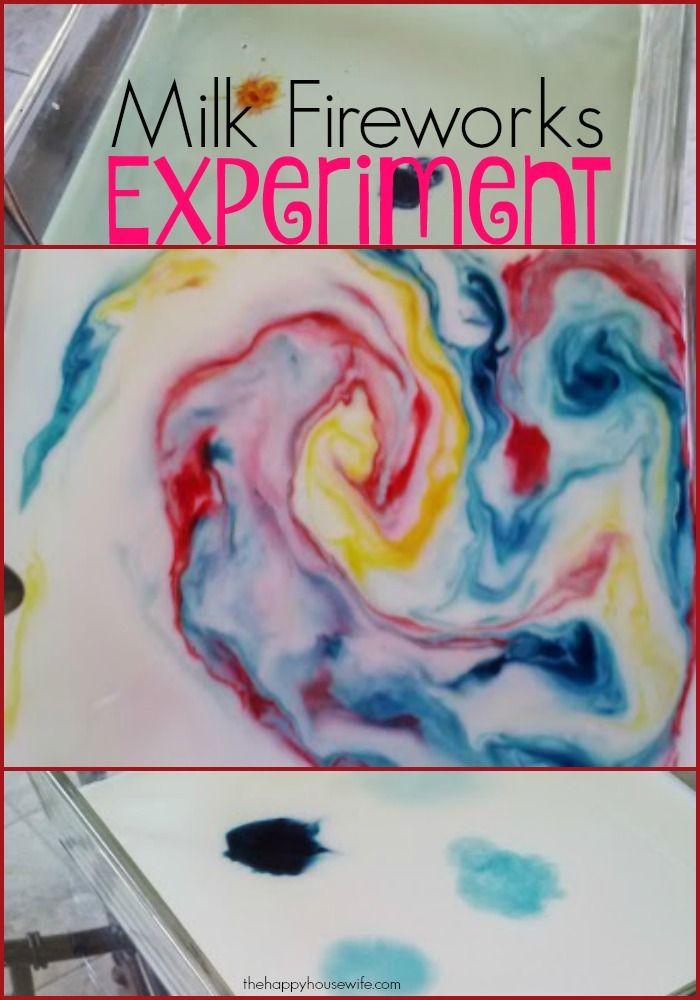 Milk Fireworks Experiment