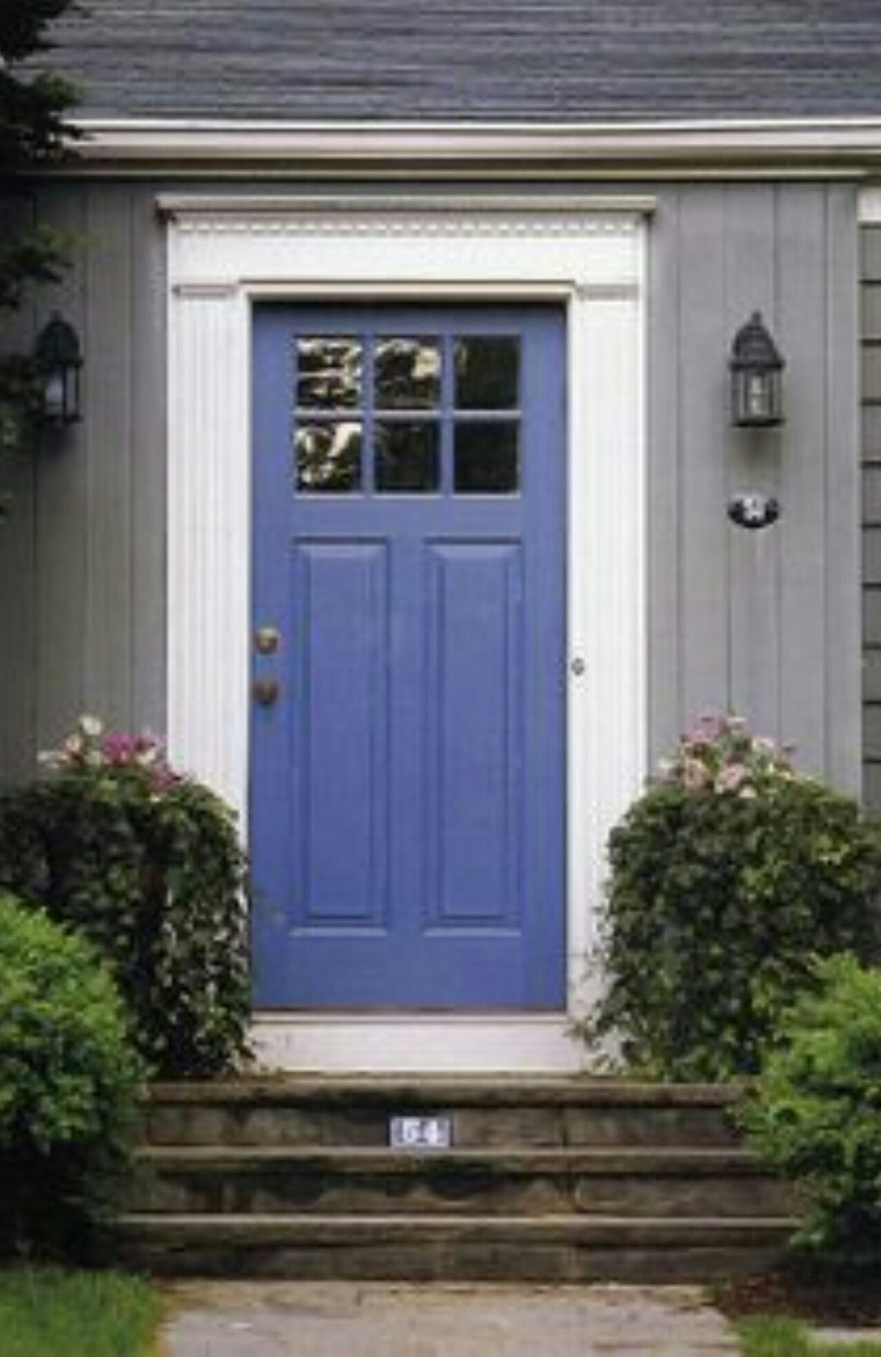 Periwinkle blue front door