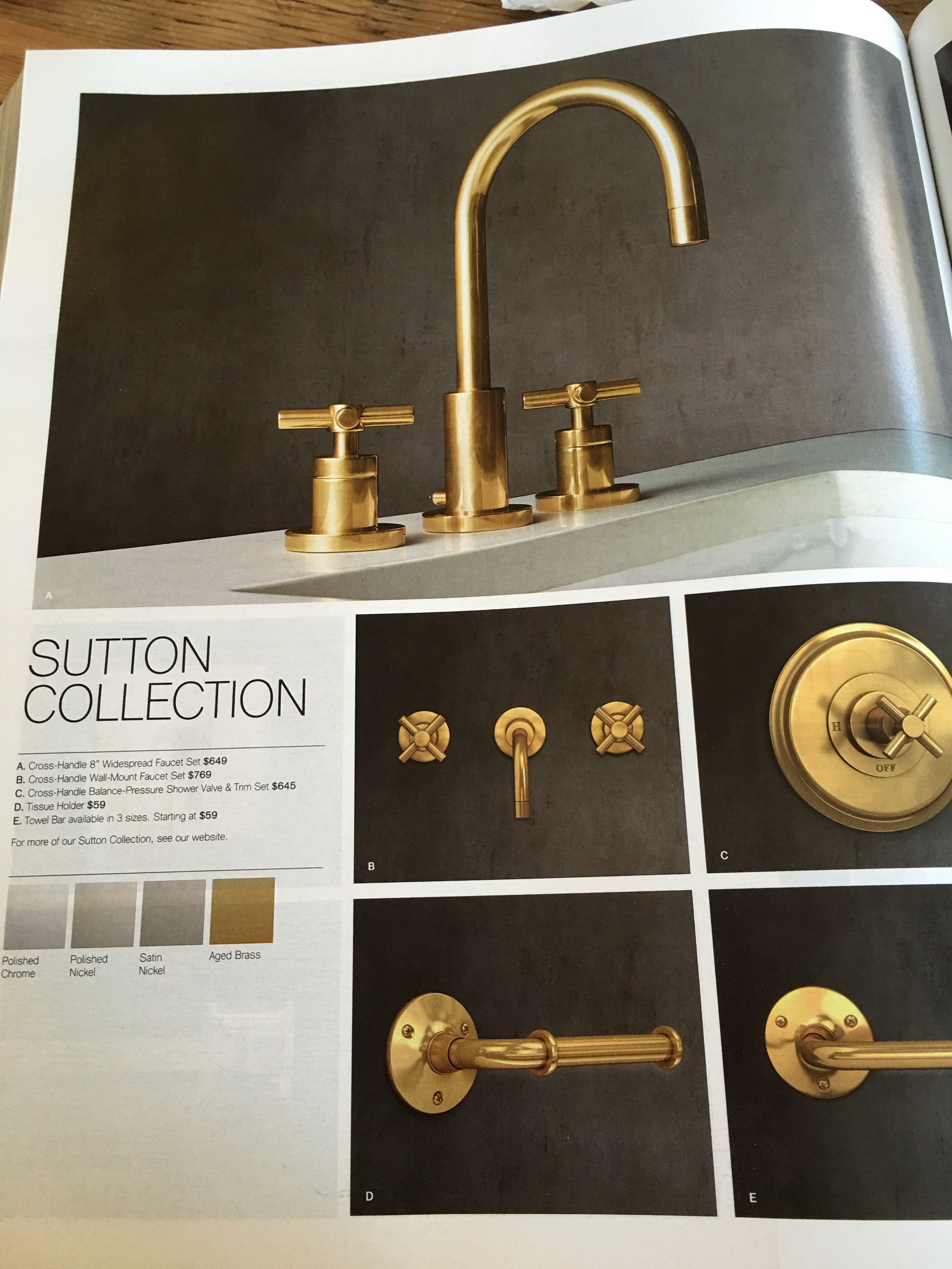 Restoration Hardware Sutton Collection Aged Brass Brass Bathroom Accessories Modern Bathroom Accessories Bathroom Accessories Luxury [ 4032 x 3024 Pixel ]