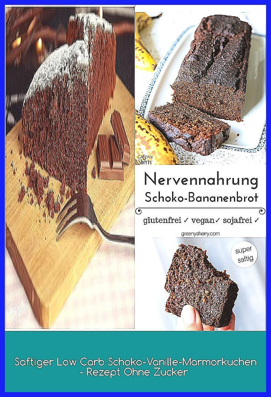 Photo of Saftiger Low Carb Schoko-Vanille-Marmorkuchen – Rezept Ohne Zucker –  Fluffiger …