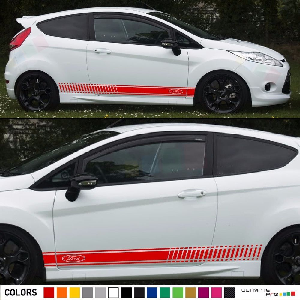 2 Decal Sticker Stripes Kit For Ford Fiesta Rs St Tailgate