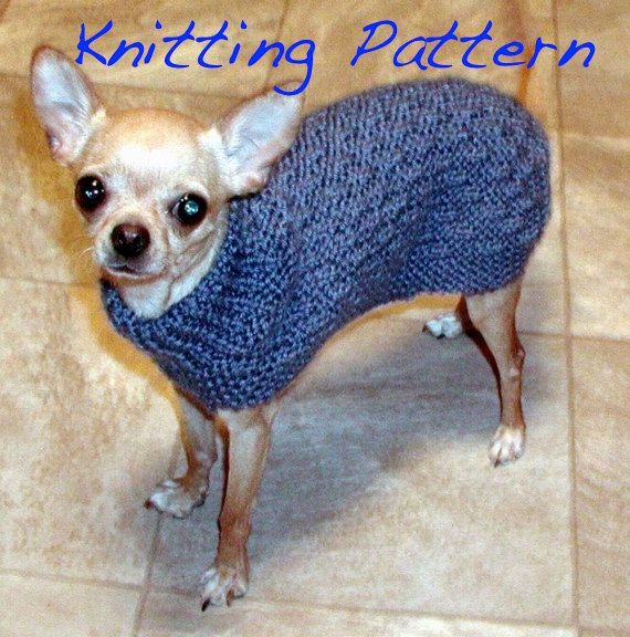 Immediate Download Pdf Knitting Pattern Basketweave Dog Sweater