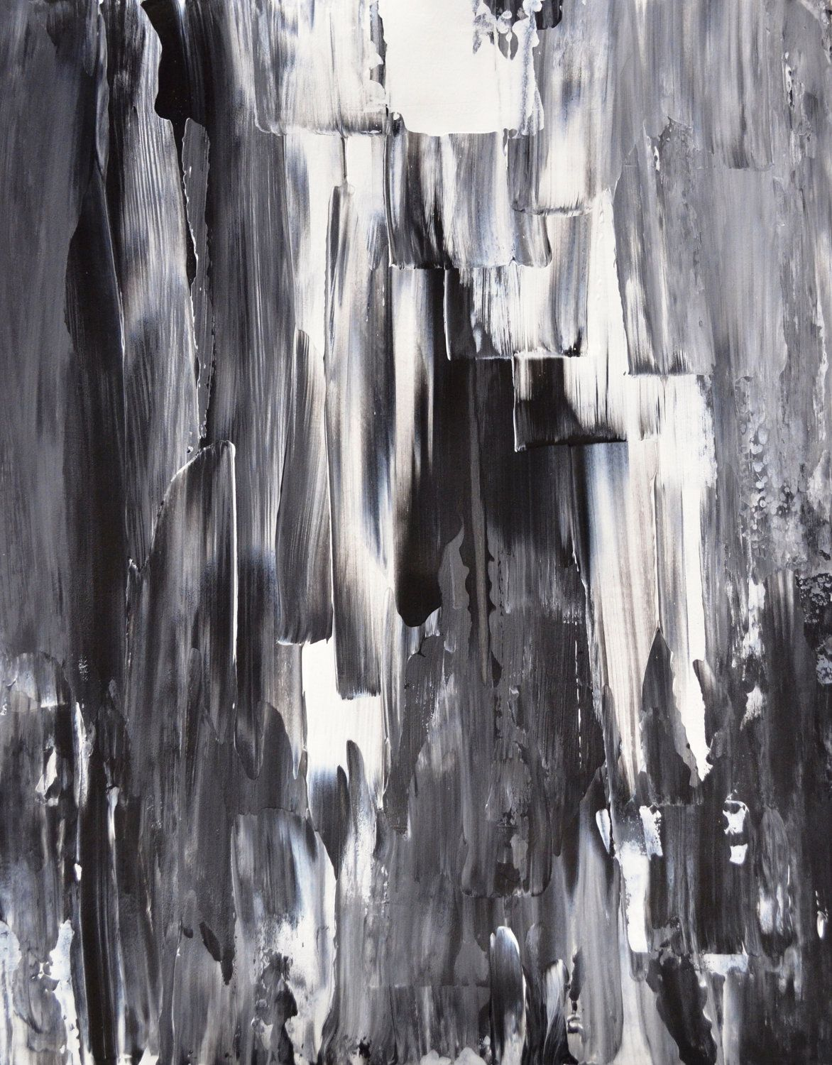 black white grey abstract artwork | Acrylic Abstract Art Painting Black,  White, Grey -