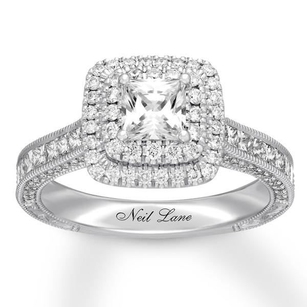 Neil Lane Engagement Ring 11/2 ct tw Diamonds 14K White