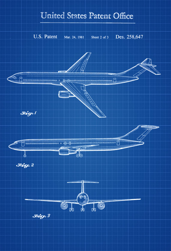 Boeing Airplane Patent Airplane Blueprint Pilot Gift Etsy Airplane Art Airplane Poster Aircraft Decor