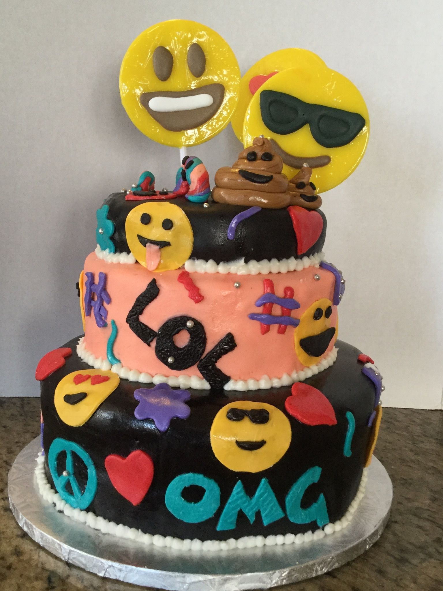 Emoji Cake For My 10 Year Old