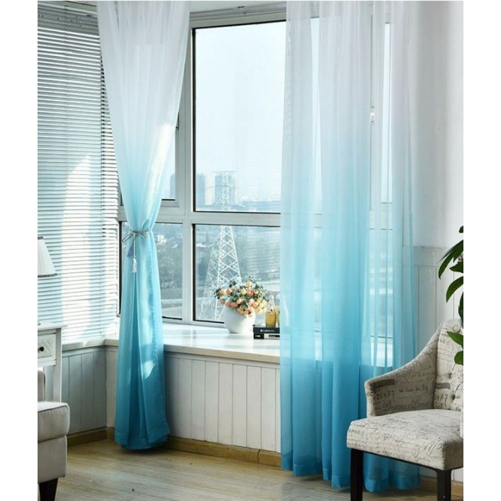 Luxury Ombre Sheer Curtains Minimalist Living Room Curtains