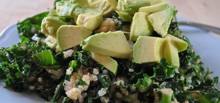Warm Kale & Quinoa Salad