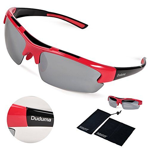 abf252658b Duduma Polarized Designer Fashion Sports Sunglasses for Baseball Cycling  Fishing Golf Tr62 Superlight Frame (red