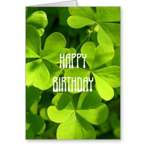 St Patrick S Day Birthday Card Zazzle Com In 2021 Happy Birthday Irish Irish Birthday Birthday Wishes Funny