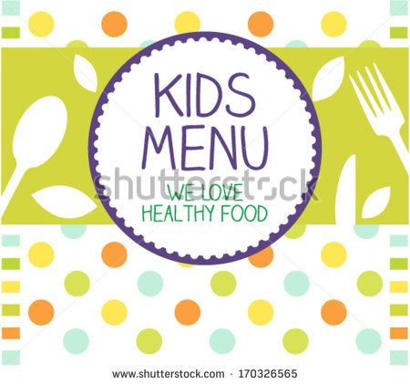 Kids Menu Card Design template by TanjaJovicic via Shutterstock – Free Kids Menu Templates