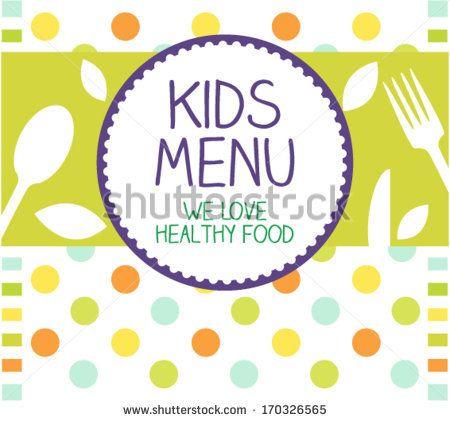 Kids Menu Card Design template by TanjaJovicic, via Shutterstock
