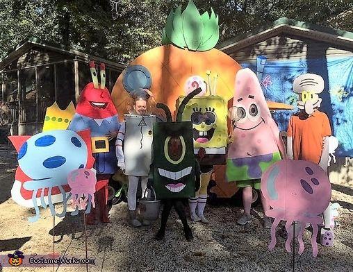 SpongeBob Characters Costume | Halloween costume contest, Costume ...