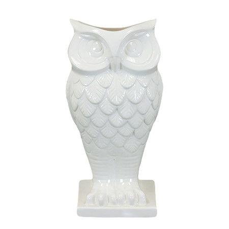 White Owl Vase.