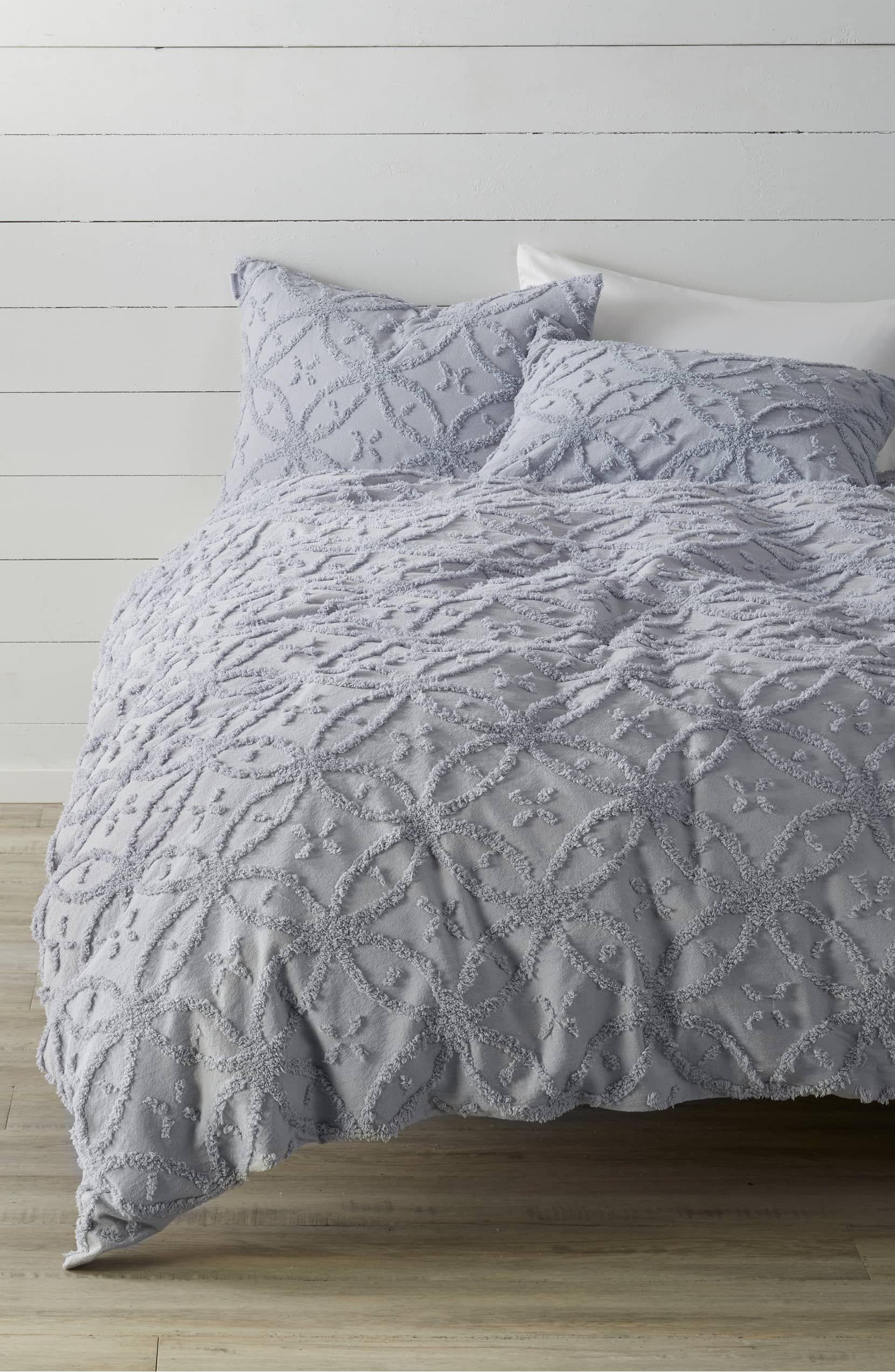king size Silver Light Grey Waffle Honeycomb Throw luxurious large
