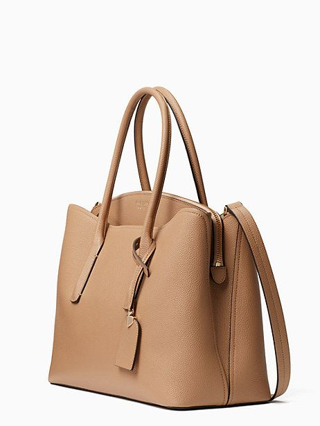 22b2258d4eb0 Kate Spade Margaux Large Satchel, Light Fawn | Products | Handbag ...