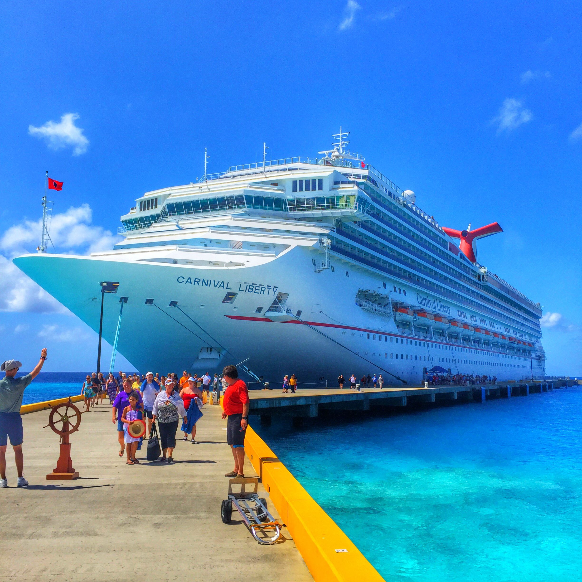 Carnival Liberty Docked In Grand Turk Travel Carnival Cruise - Liberty cruises