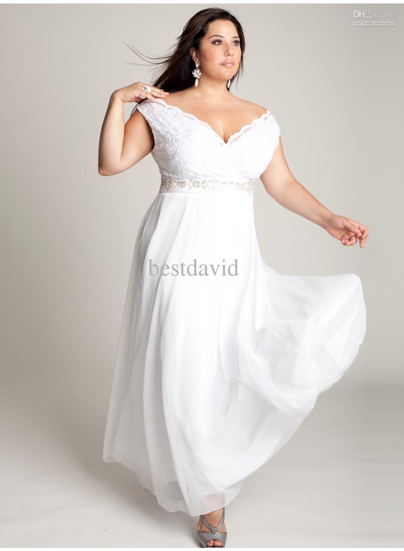 Plus Size White Lace Mother Of The Bride Dresses 2013 Off Shoulder