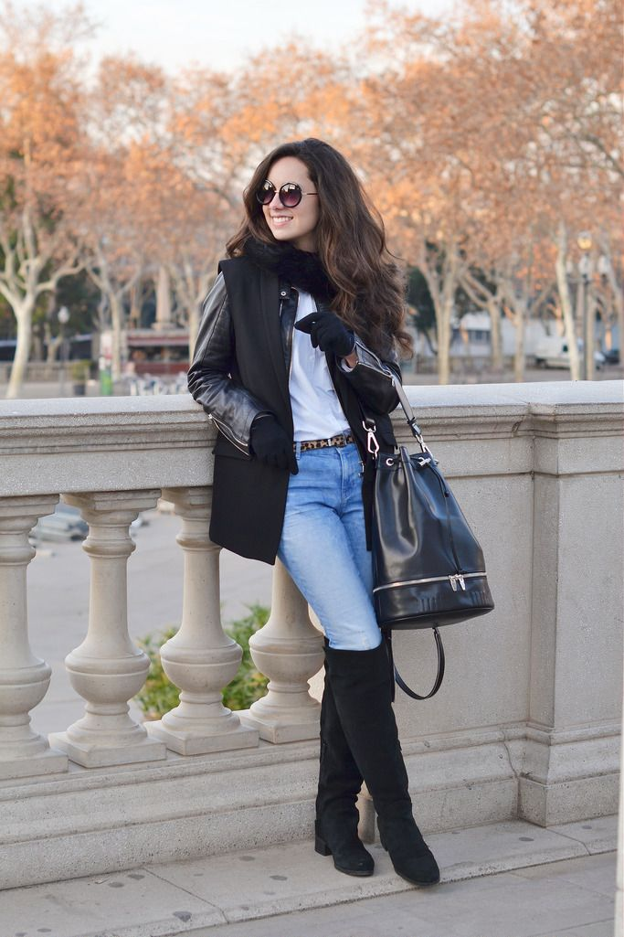 botas altas negras ante geox | Ropa, Moda, Bota alta negra