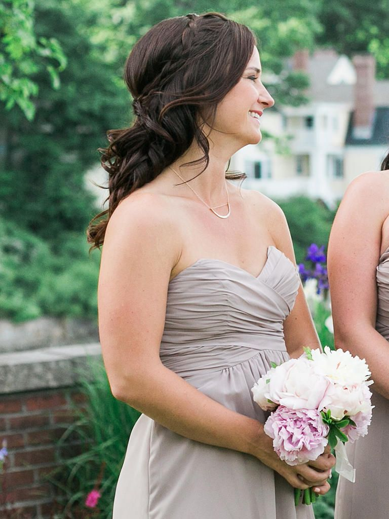 15 best bridesmaid hairstyles for a strapless dress | wedding