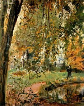 Garten in Godramstein-Regenstimmung  von Max Slevogt