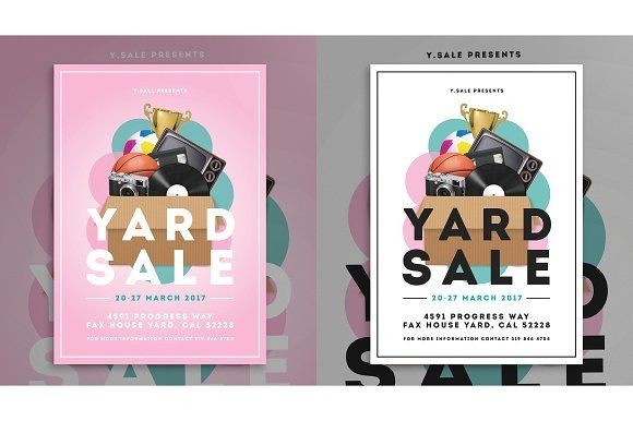 Garage Sale Flyer By The Good Store On Creativemarket  Creative