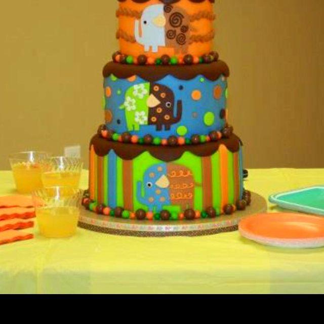 Celebrate with Cake!: Baby Shark 2 tier 1st Birthday Cake