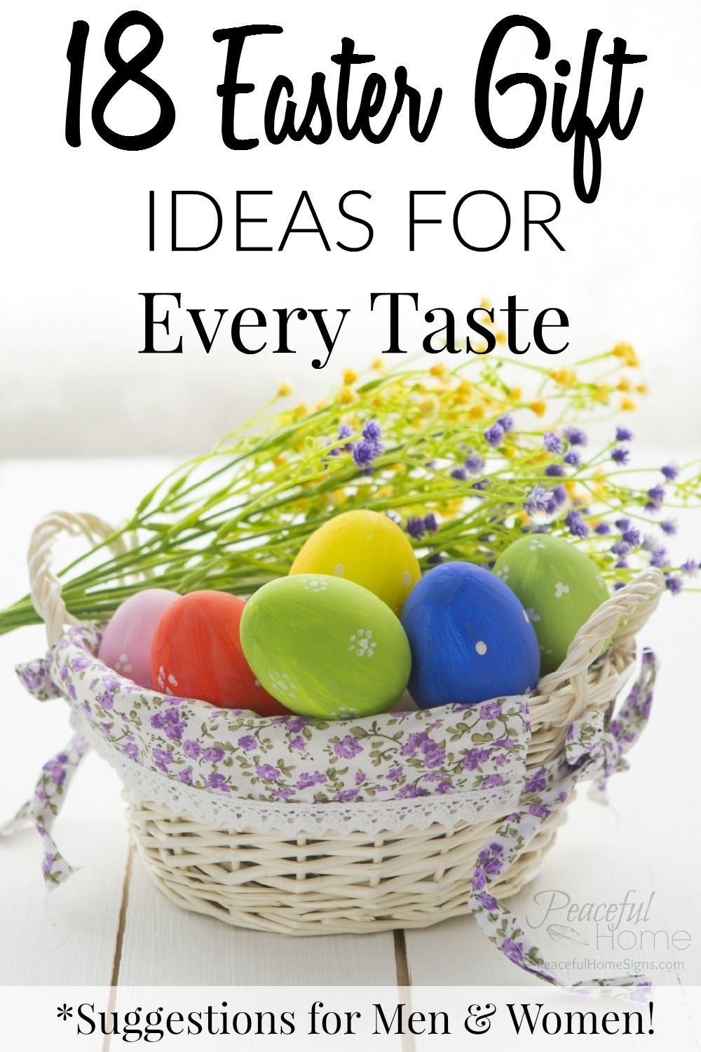 18 easter gift ideas for every taste men women gift suggestions easter gift ideas easter 2017 resurrection sunday gifts for him gifts for her unique gift ideas gift suggestions easter basket ideas negle Choice Image