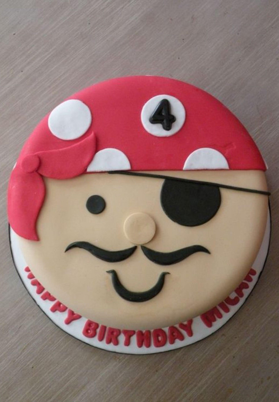 Le gâteau visage pirate