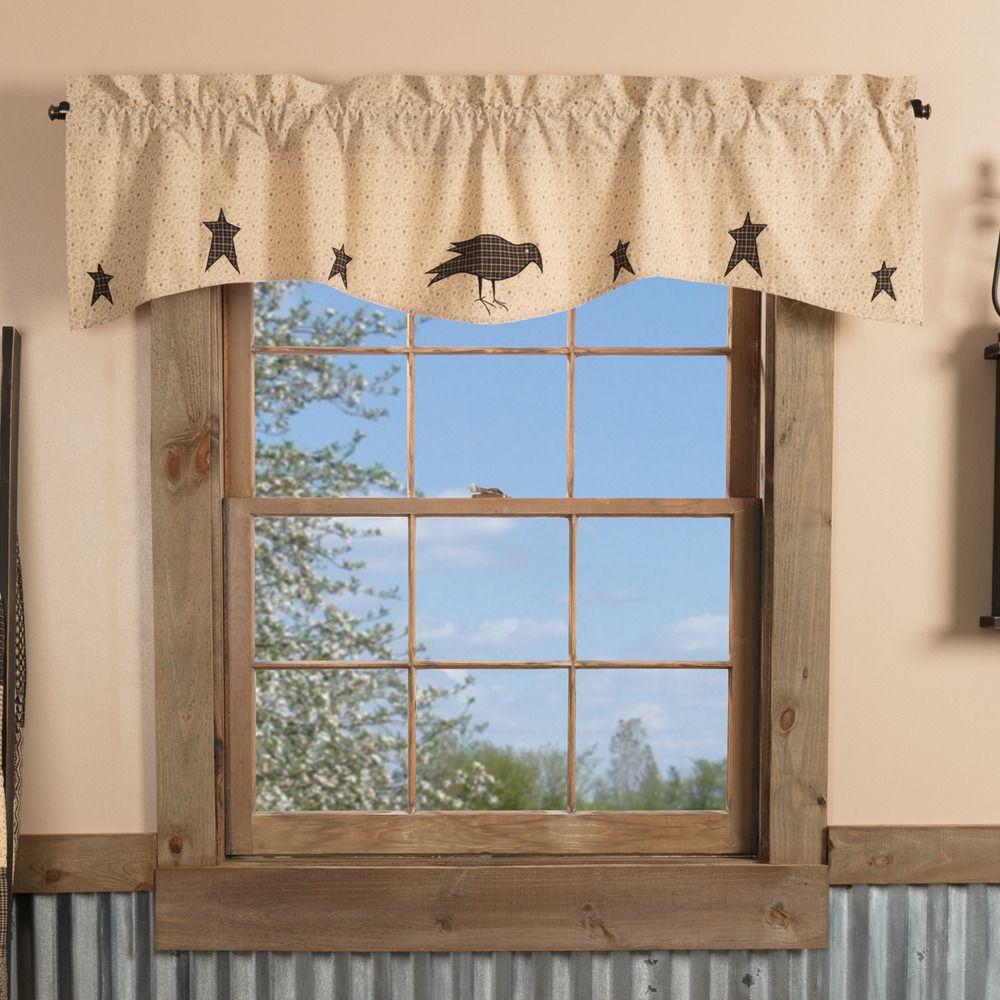 Curtains & Drapes Home & Garden VHC Primitive Valance Navy Star ...
