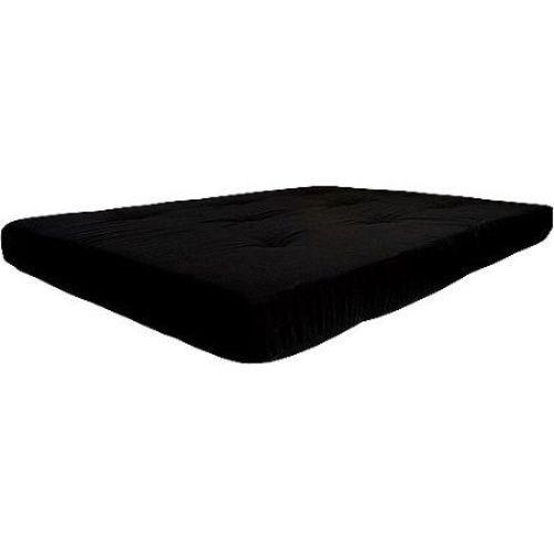 6   full size futon mattress black tufted solid bed cotton   black deluxe  fort 6   full size futon mattress black tufted solid bed cotton   black      rh   pinterest