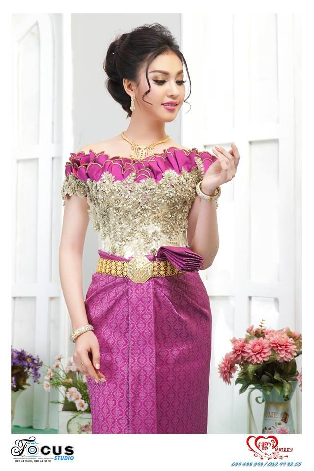 Khmer wedding costume | Khmer dress (Cambodge) | Pinterest