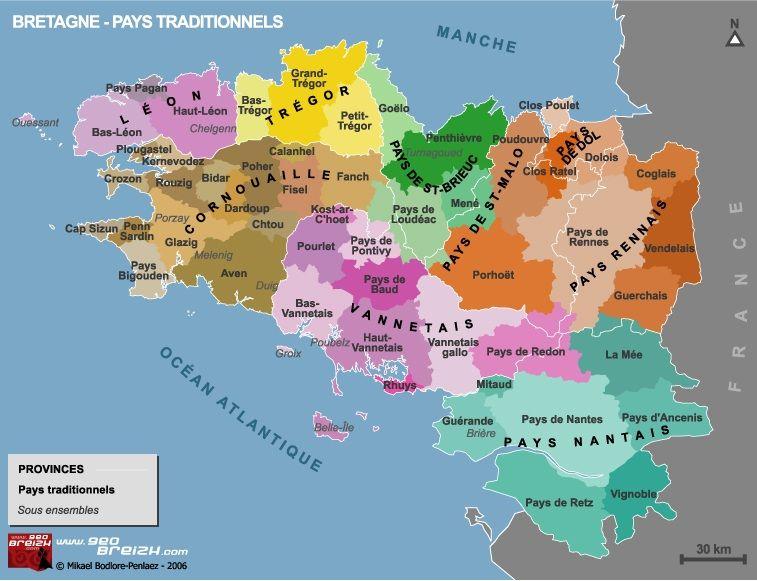 Regions De La Bretagne Carte Bretagne Bretagne Carte Des Regions