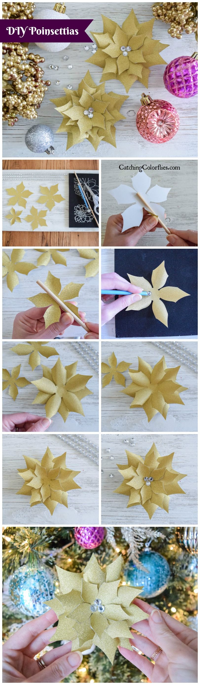 how to make poinsettia from paper