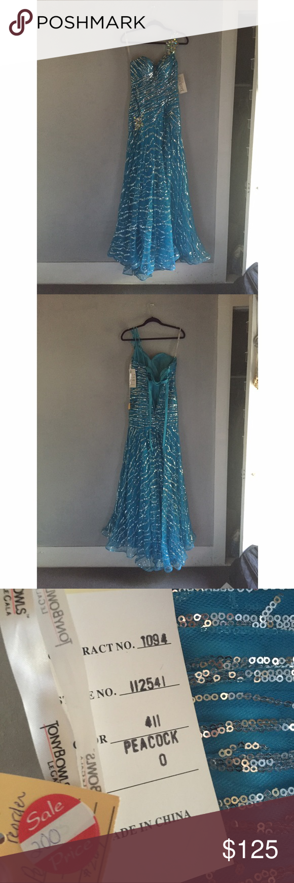 Prom dress beautiful prom dress light blue with silver glitter