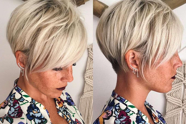 Coiffures Courtes Cheveux Blancs 2018