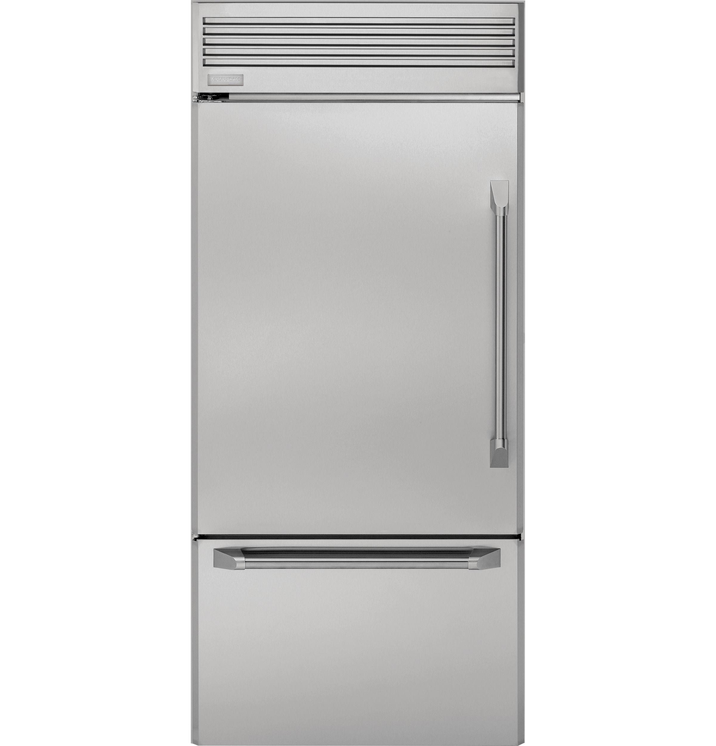 Zicp360nhlh Monogram 36 Professional Built In Bottom Freezer Refrigerator Monogram Appliances Bottom Freezer Refrigerator Monogram Refrigerator