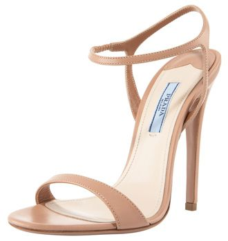 Prada Thin-Strap High Heel Sandals in nude | Sweats, Shoes, Jewls ...