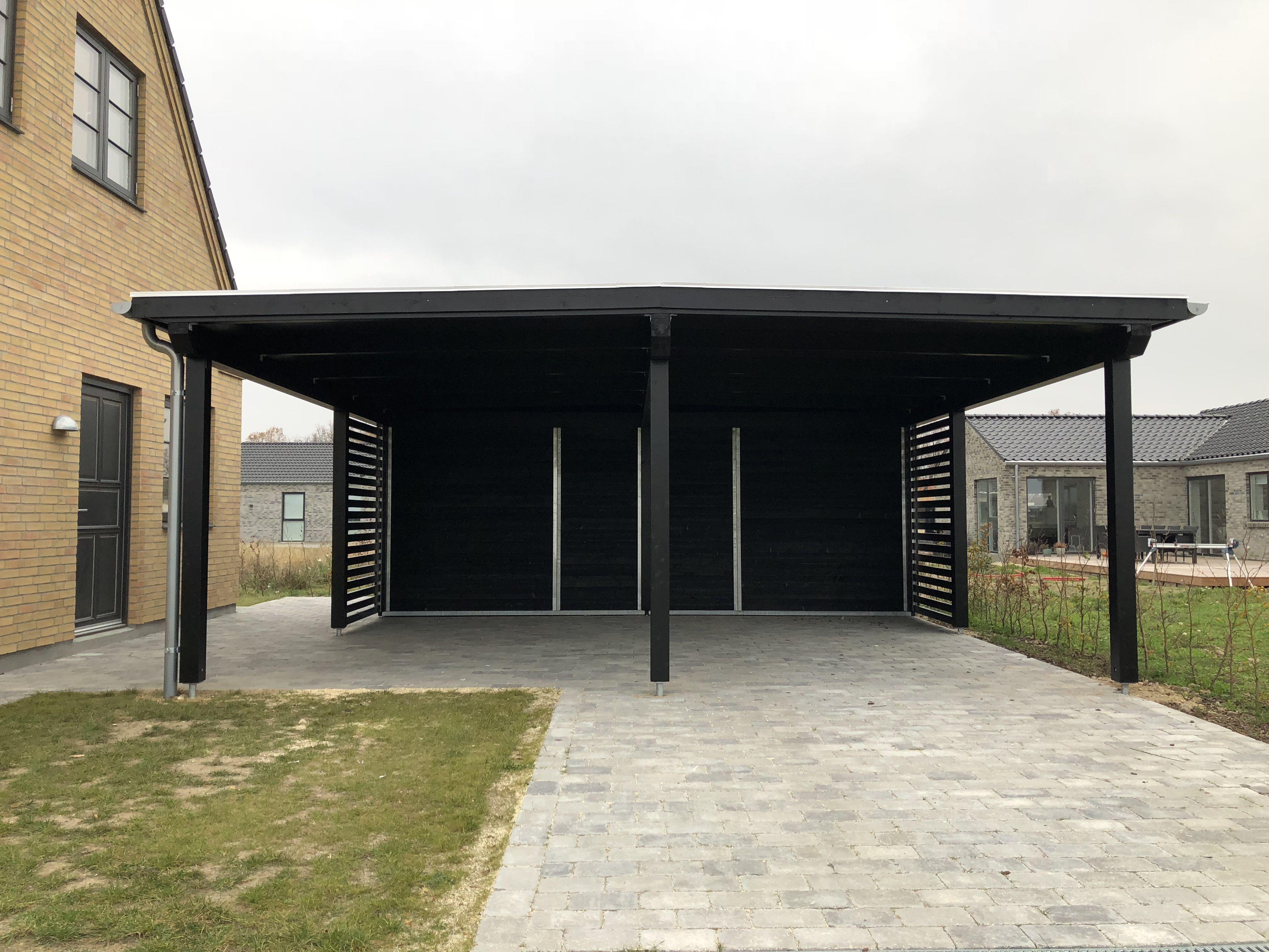 Stockholm serien Enkelt og dobbelt carport Design din