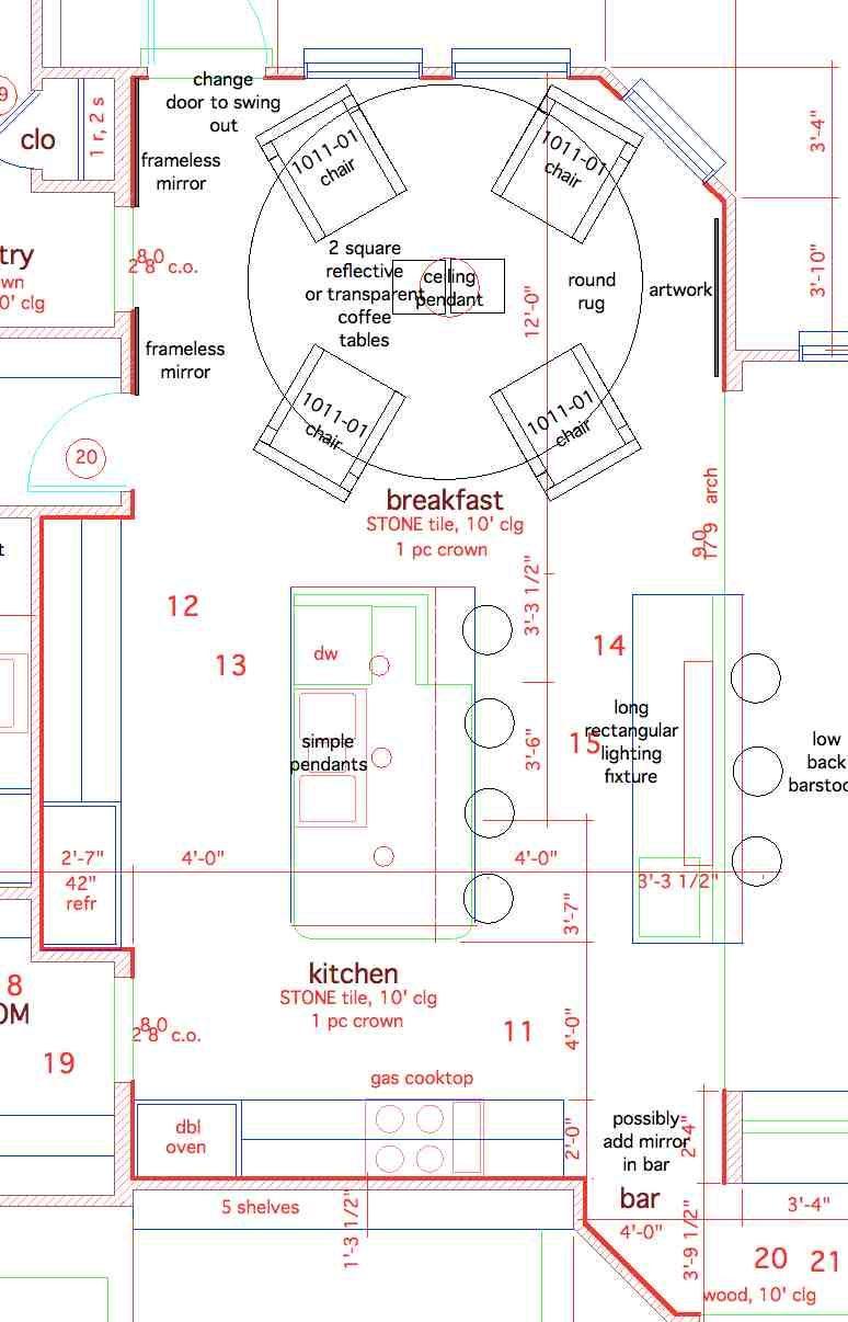 Floor Plan Breakfast Area And Kitchen Ch Residence Breakfast Area Kitchen Floor Plans Floor