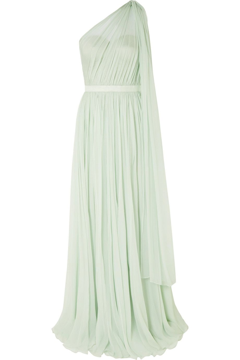 b3072c5f0e40 Alexander McQueen | One-shoulder crinkled silk-chiffon and satin gown |  NET-A-PORTER.COM