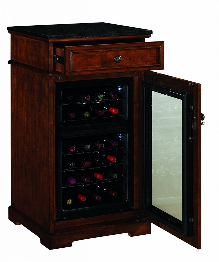 End Table Refrigerator Built In Wine