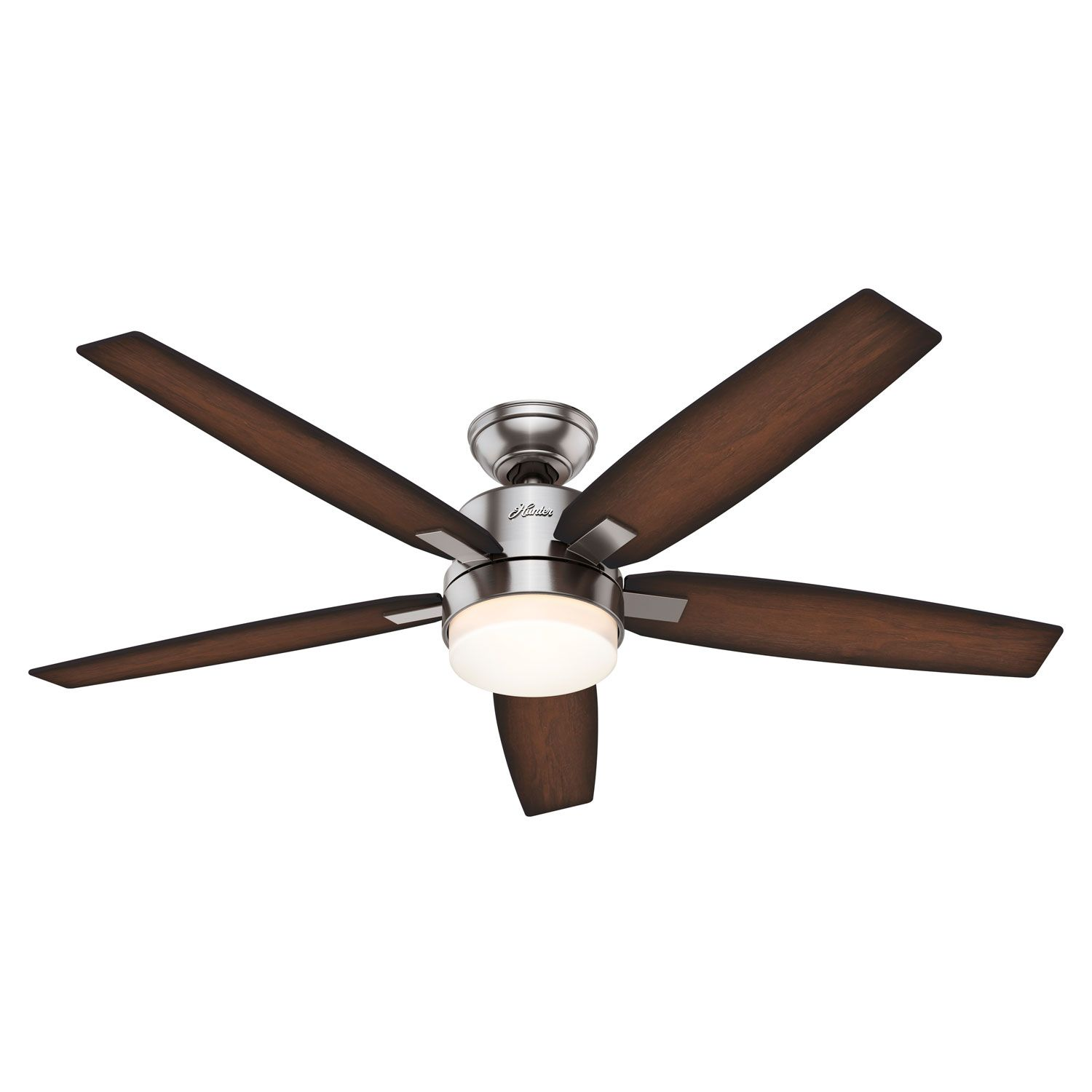 Hunter Fans Windemere Brushed Nickel Two Light 54 Inch Ceiling Fan