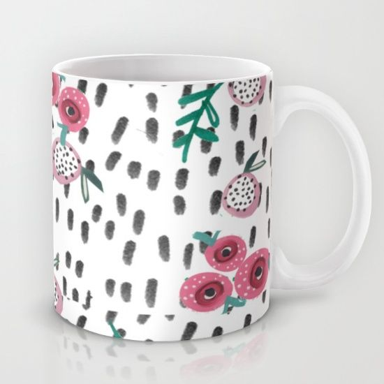 mug, illustration, illustrated mug, floral mug. interior,rose. rose mug, rose illustration, rose interior
