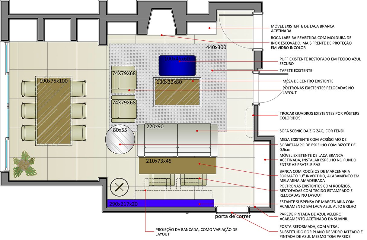 Planta baixa projeto de interiores ambientta arquitetura for Plantas de interiores